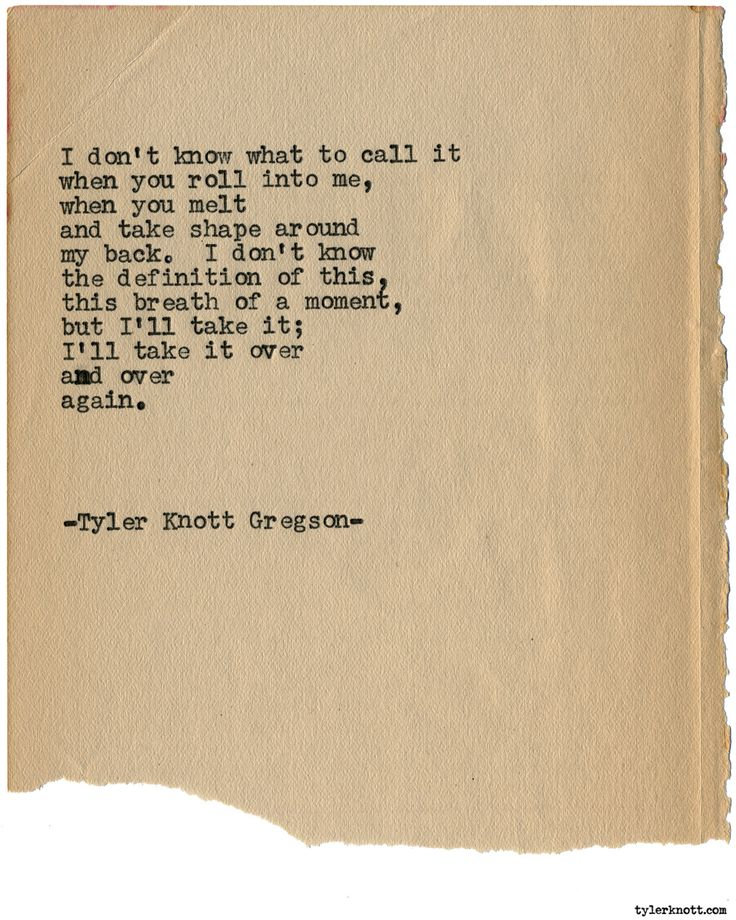 Typewriter Series #1979 by Tyler Knott Gregson Check out my Chasers of the Light Shop! chasersofthelight.com/shop
