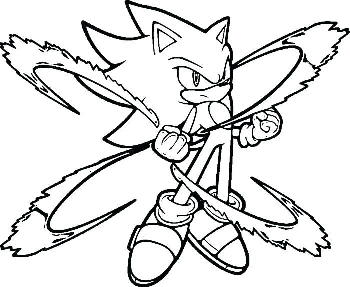 Super Sonic Coloring Pages To Print Best Sonic Coloring Pages