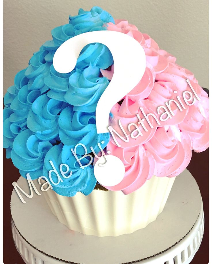 One Giant Gender Reveal Cupcake!!!