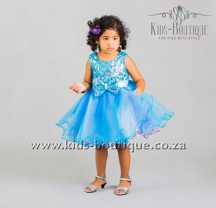 Blue & Purple Tulle Sequence Dress