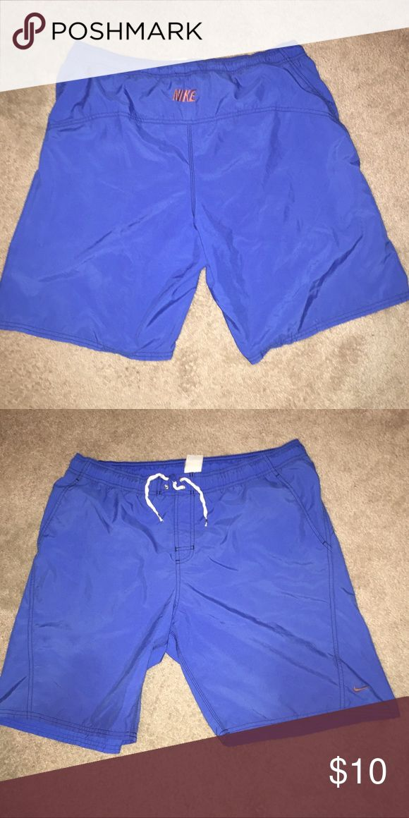 Nike swim trunks These are Nike swim trunks in good condition! Size tag is worn off but fit true to a size large and that's why it says it in the listing Nike Swim Swim Trunks