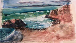 Easy Seascape Painting Lessons| www.drawing-made-easy.com | #easy #seascape