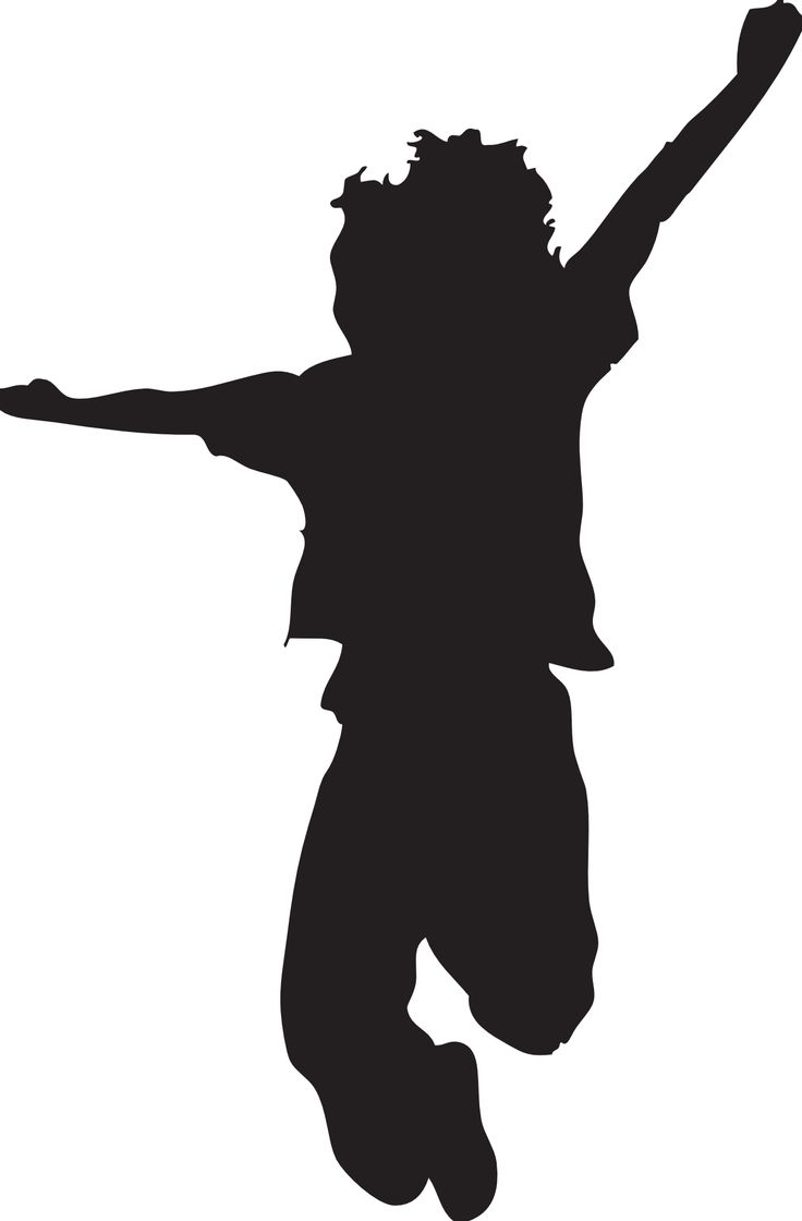 Jumping Silhouette Clipart - Clipart Kid