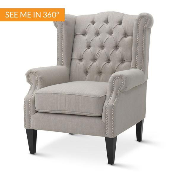 Royale Wingback Arm Chair Taupe