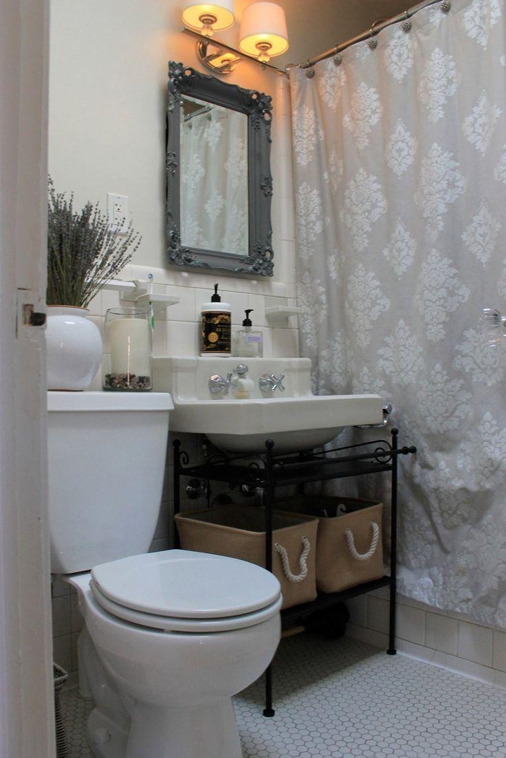 Best 25 pedestal sink storage ideas on pinterest - Bathroom sinks for small bathrooms ...