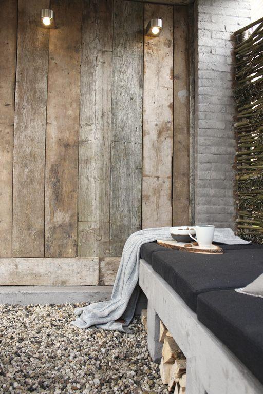 Overdekt terras tuin verlichting - veranda. Via Studio Marijke Schipper