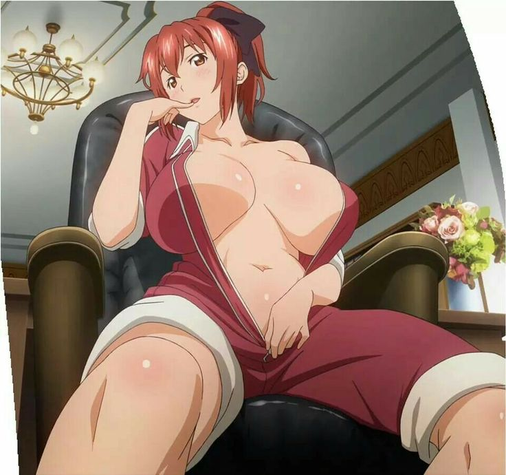 Babes Tits Hentai - two ig port xebec rokujou minori takami akio high resolution screen capture  stitched blush breasts breasts apart cleavage female huge breasts navel red  hair ...