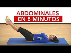 Abdominales en 8 minutos Consigue un vientre plano en casa - YouTube