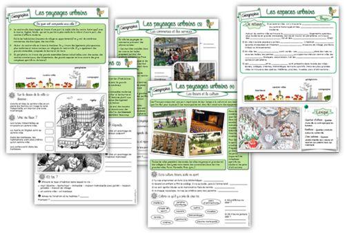 Géographie CE2 : Les paysages urbains