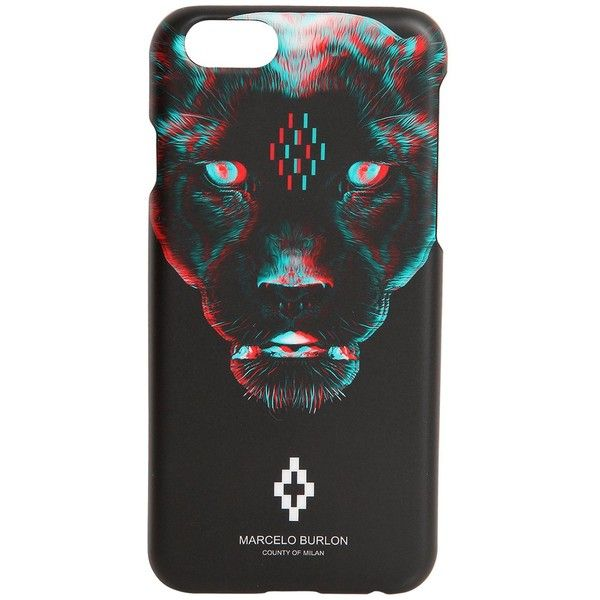 Marcelo Burlon County Of Milan Men Rufo Iphone 7 Case (€59) ❤ liked on Polyvore featuring men's fashion, men's accessories, men's tech accessories and black
