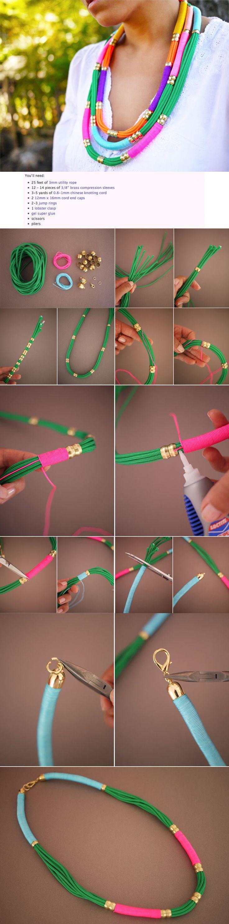 DIY statement necklaces. Except I would make bracelets.