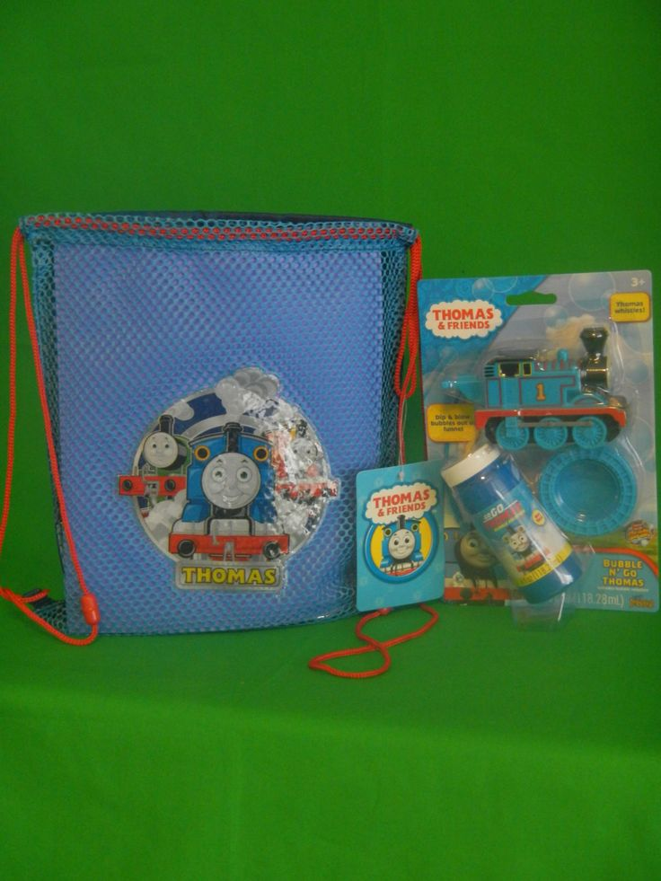 Thomas the Train Tank Engine Drawstring Backpack Sling Bag Tote Set – Personalized with name