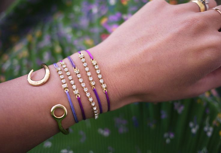 DIY: rhinestone sliding knot bracelet diy jewelry craft