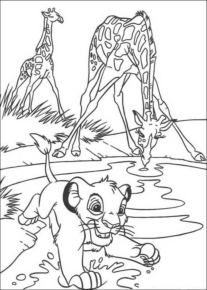 92 coloring pages of lion king on kids n fun co uk