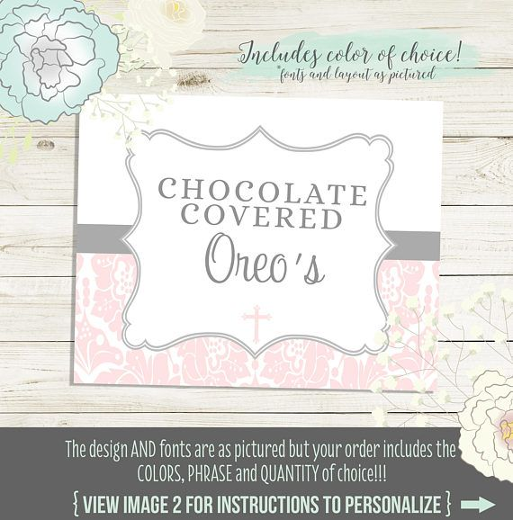 Printed Buffet Labels for candy, food or dessert buffets