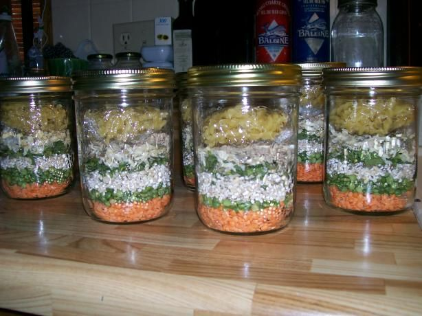Minestrone Soup Gift Mix in a Jar from Food.com: Good Christmas gift idea... You will need about a two-cup jar..