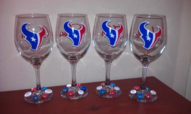 Texans Wine Glasses