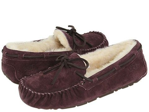 UGG Dakota. Even though these are technically slippers, everyone wears these as fur lined moccasins. Even with wearing them through snow and walking around campus, these have far outlived my cheap around the house sheepskin slippers.