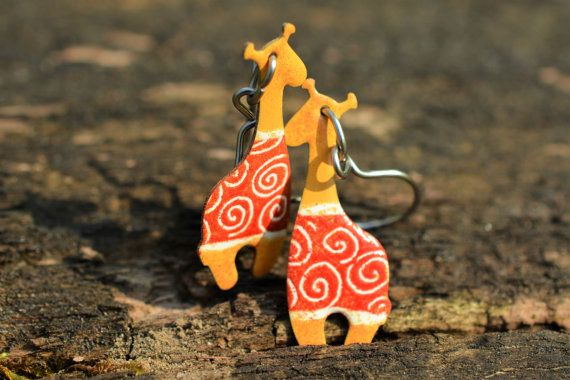 Check out this item in my Etsy shop https://www.etsy.com/listing/292024483/handpainted-giraffe-earrings-animal