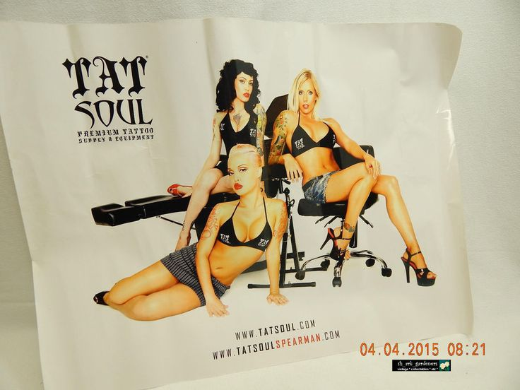 """TAT SOUL"" TATTOO SUPPLY & EQUIPMENT-POSTER! PREVIOUSLY OWNED & ENJOYED! AS IS! #UNKNOWN #soldonebay"