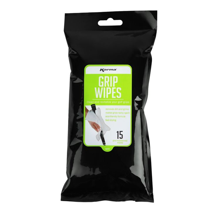 Golf clubs karma golf grip cleaning wipes 15 pack