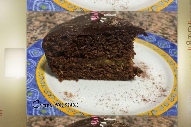 tarta de chocolate, naranja y almendras #dulce #delicioso #postre