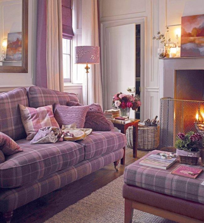 Lynden sofa £1,550; footstool £700; lamp £175; shade from £34, Laura Ashley