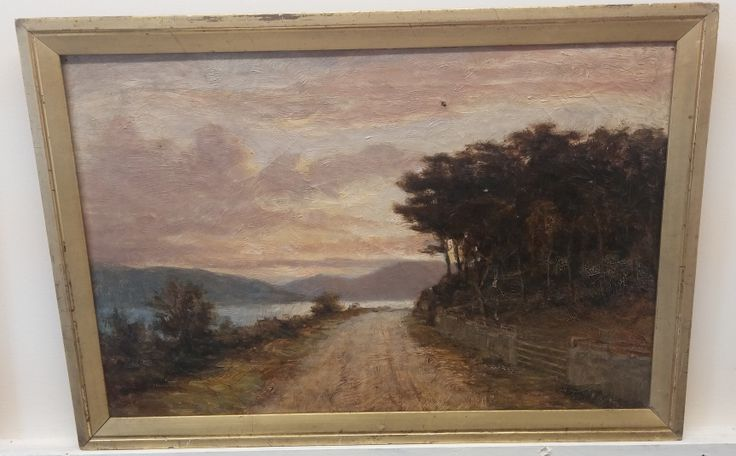 Victorian framed oil painting. Framed size measures 23 inches x 16 inches.
