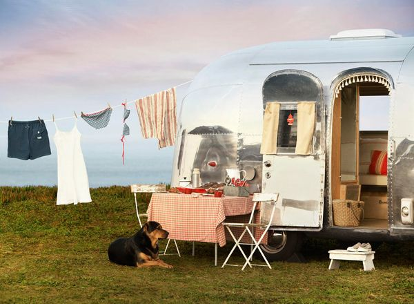 I love...this airstream trailer by the sea...: Vintage Trailers, The Roads, Summer Roads Trips, Vintage Airstream, Vintage Wardrobe, Camps, Airstream Dreams, Airstream Trailers, Vintage Campers