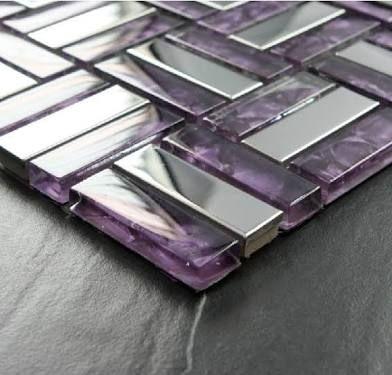 purple glass mosaic tile backsplash ile ilgili görsel sonucu