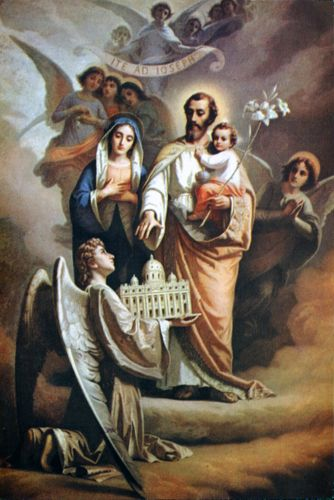 Day 2 – Novena in preparation for the Solemnity of St Joseph, spouse of the Blessed Virgin, Guardian of Our Lord Jesus Christ and of His Holy Church  Glorious St Joseph, you came to share in the sublime greatness of God's Mother by taking Mary to be your wife. Pray that I may partake....................click to join us on Devotions | DEVOTIO