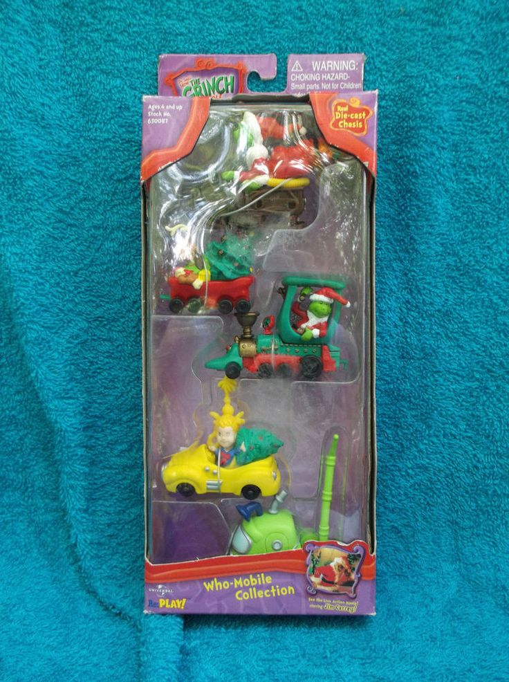 How The Grinch Stole Christmas Who-Mobile Collection Die-cast Chasis 2000 NIB