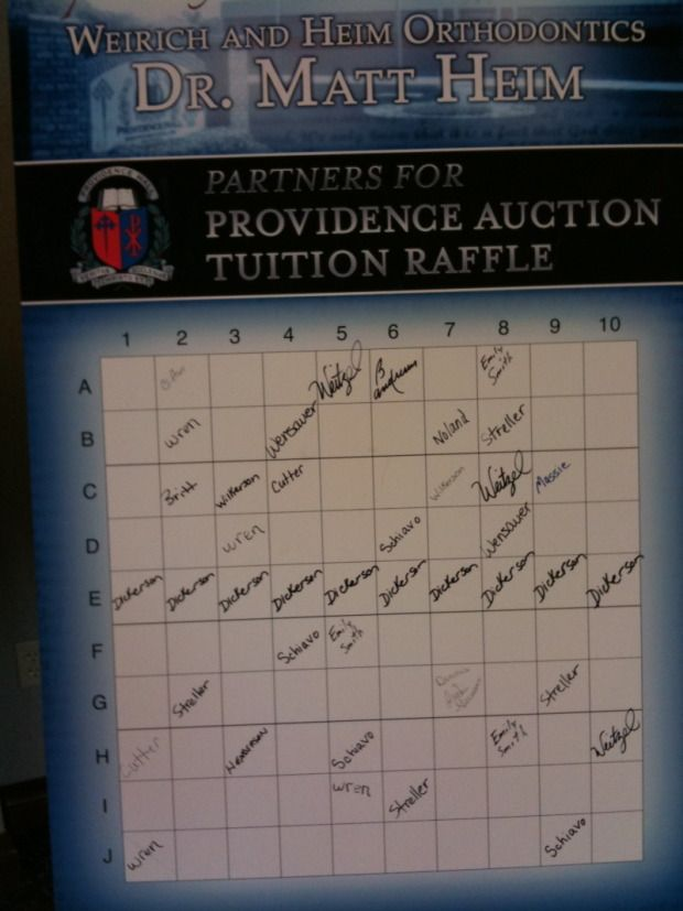 Raffle Board Buy A Square School Money Makers