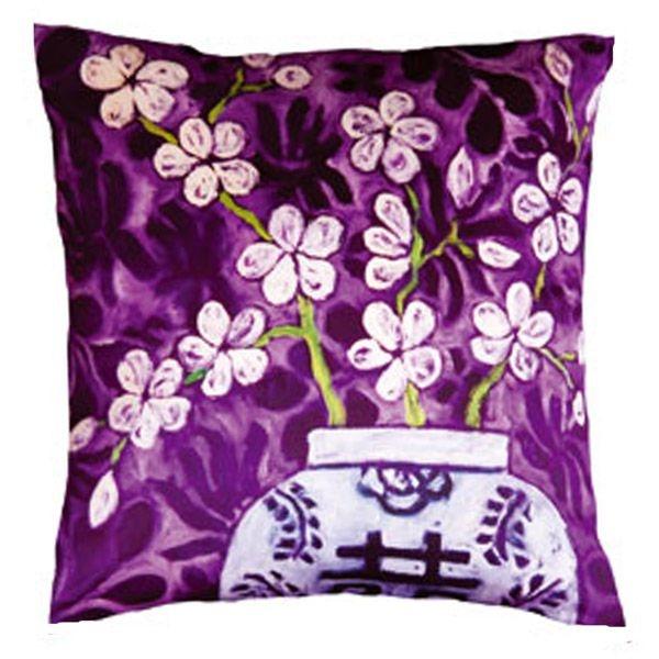Cushion -  In Bloom Purple, Mariska Meijers - etoffe.com