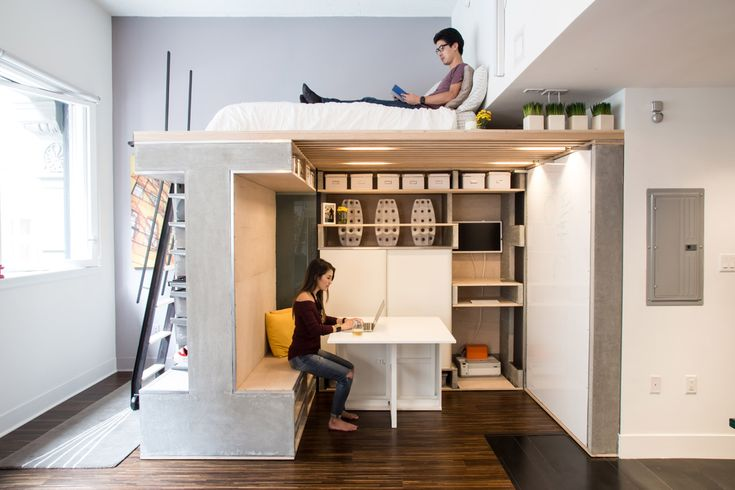 Cool and functional loft idea for small spaces.