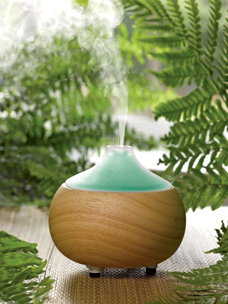 Super cute! Not YL, but very similar qualities. Ultrasonic essential oil diffuser in oak and glass with LED light, as well.