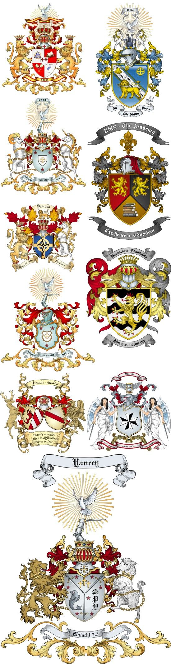 Advanced Artwork Coat of Arms Samples
