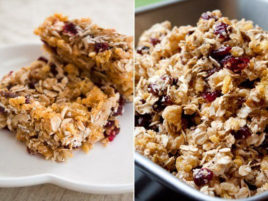 Here's a snack that's lightly sweetened and packed with nourishment. I think of these DIY power bars as a healthy riff on a rice Krispie treat — but they are are actually tastier than their marshmallow-butter laden cousins. Here's a recipe for them, adapted from and inspired by one of our favorite bloggers and cookbook authors.