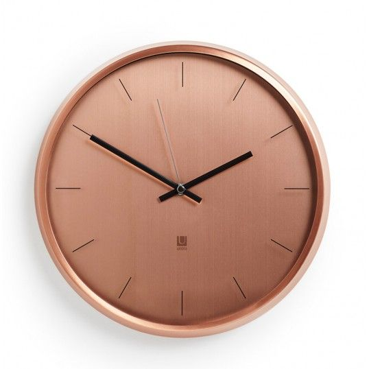 Väggklocka - Umbra Meta Copper