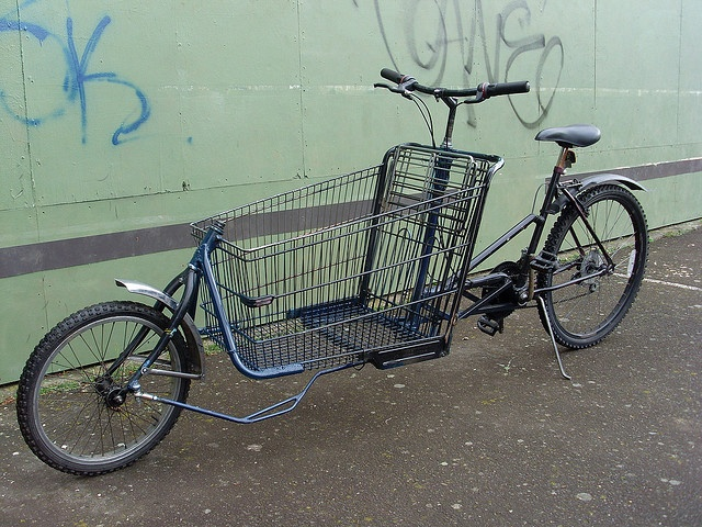 amazing shopping cart bike