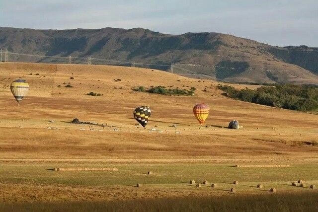 Hot air balloon ride at Newcastle, Kwa-Zulu Natal.....note how the trees form a heart on the mountain. Love seeing that heart!