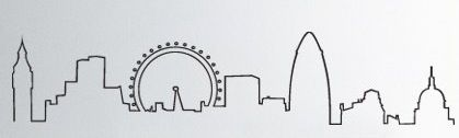 london skyline outline.  If I got a tattoo...