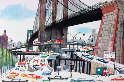 Miroslav Sasek: Books Covers, Vintage Children Books, Miroslav Sasek, Covers Books, Brooklyn Bridges, Illustration, Vintage Children'S Books, Bridges Nyc, New York
