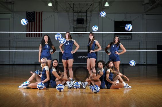 Cool stylish volleyball team photography . Best and unique Volleyball Team poses . Best sports photo-shoot pictures .Team picture ideas for volleyball team