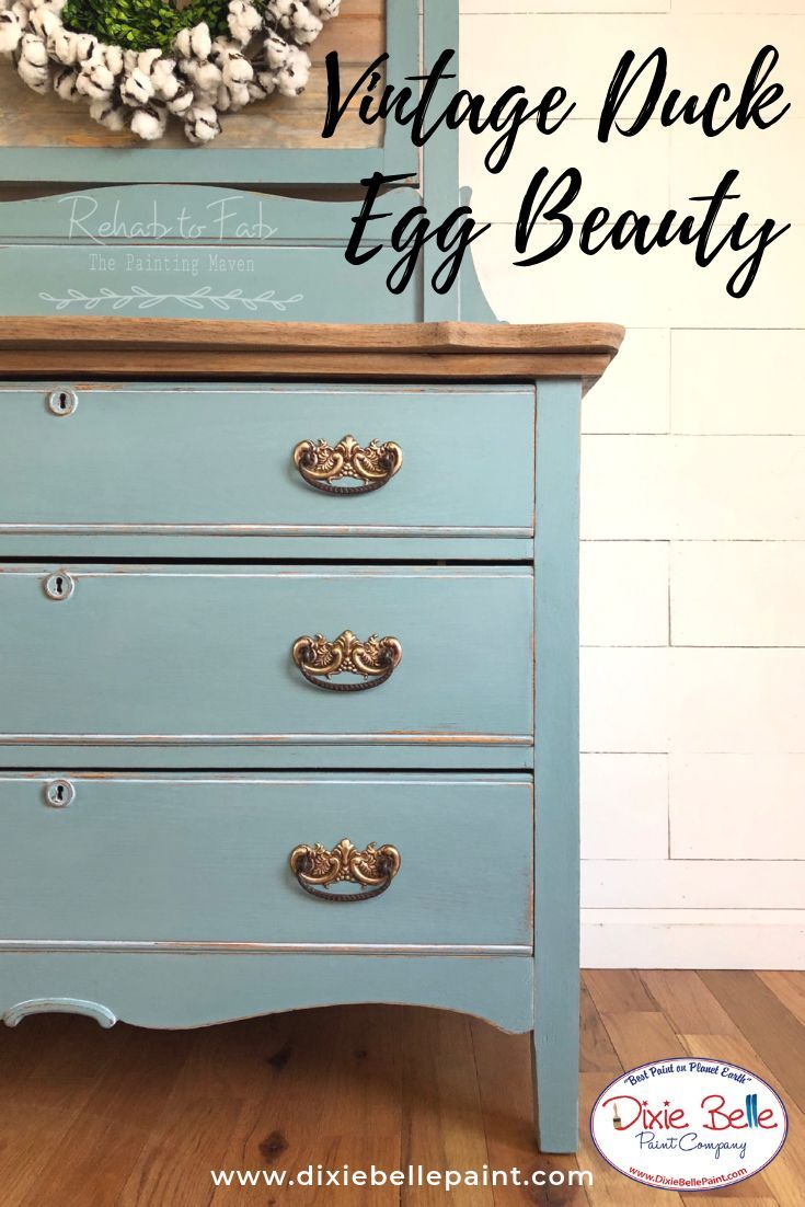 Vintage Duck Egg Is A Lovely Gray With Hints Of Blue And Green A Beautiful Antique Blue Painted Furniture Painted Bedroom Furniture Vintage Bedroom Furniture