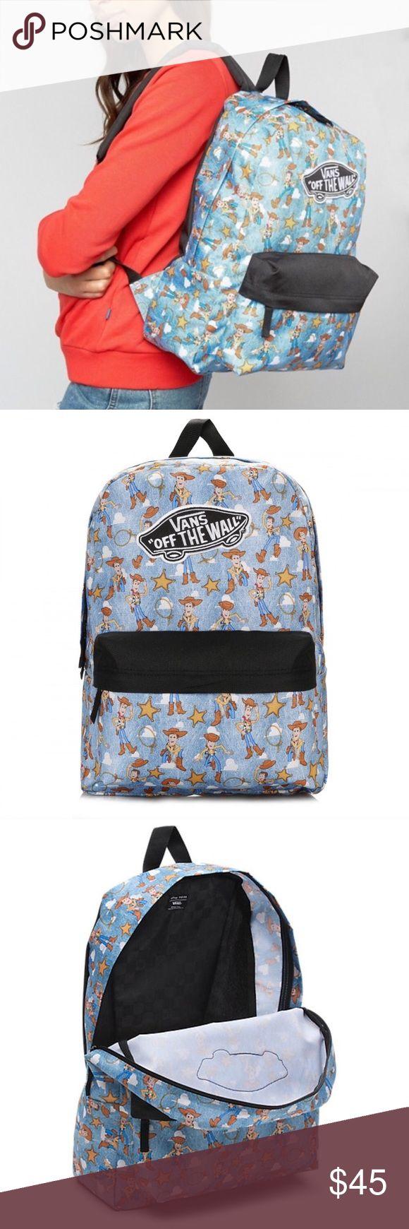 Vans x Toy Story Woody Backpack Disney Movie Used once. Like new. Vans Bags Backpacks