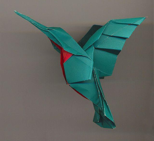 Origami Hummingbird by Brett Jordan, via Flickr