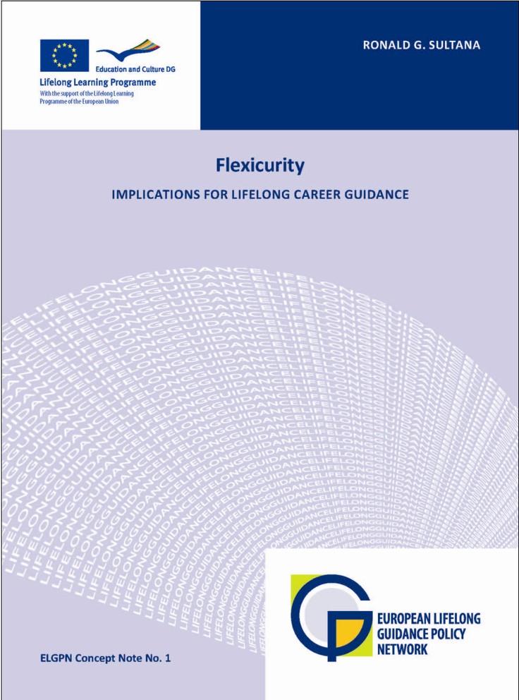 ELGPN: Flexicurity, gevolgen voor levenslange loopbaanbegeleiding. FLEXIBILITY streeft naar harmonie tussen flexibiliteit voor werkgevers en zekerheid voor personen. Deze conceptnota, ontwikkeld in opdracht van het ELGPN, gaat uitgebreider in op het concept, onderzoekt waarom het voor beleidsmakers in Europa steeds aantrekkelijker is en onderzoekt een aantal kwesties en discussies rondom het concept.