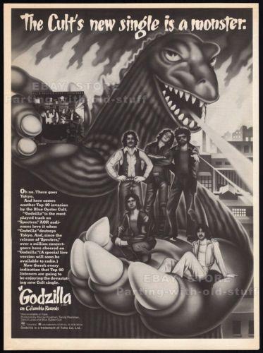 Blue-Oyster-Cult-GODZILLA-Original-1978-Trade-AD-music-promo-poster-SPECTRES