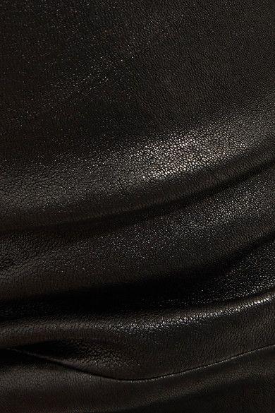 J Brand - Selena Cropped Stretch-leather Flared Pants - Black - 31